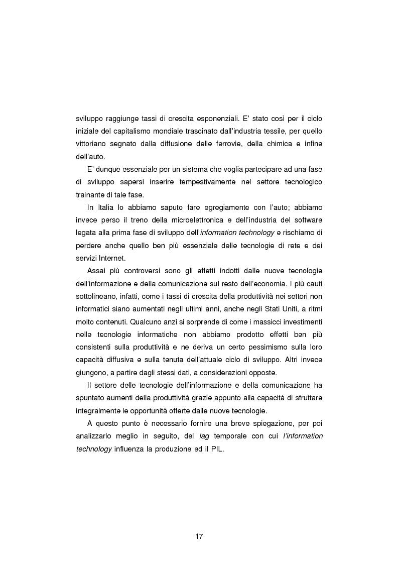 Anteprima della tesi: Gli Indicatori dell'Information and Communication Technology, Pagina 15