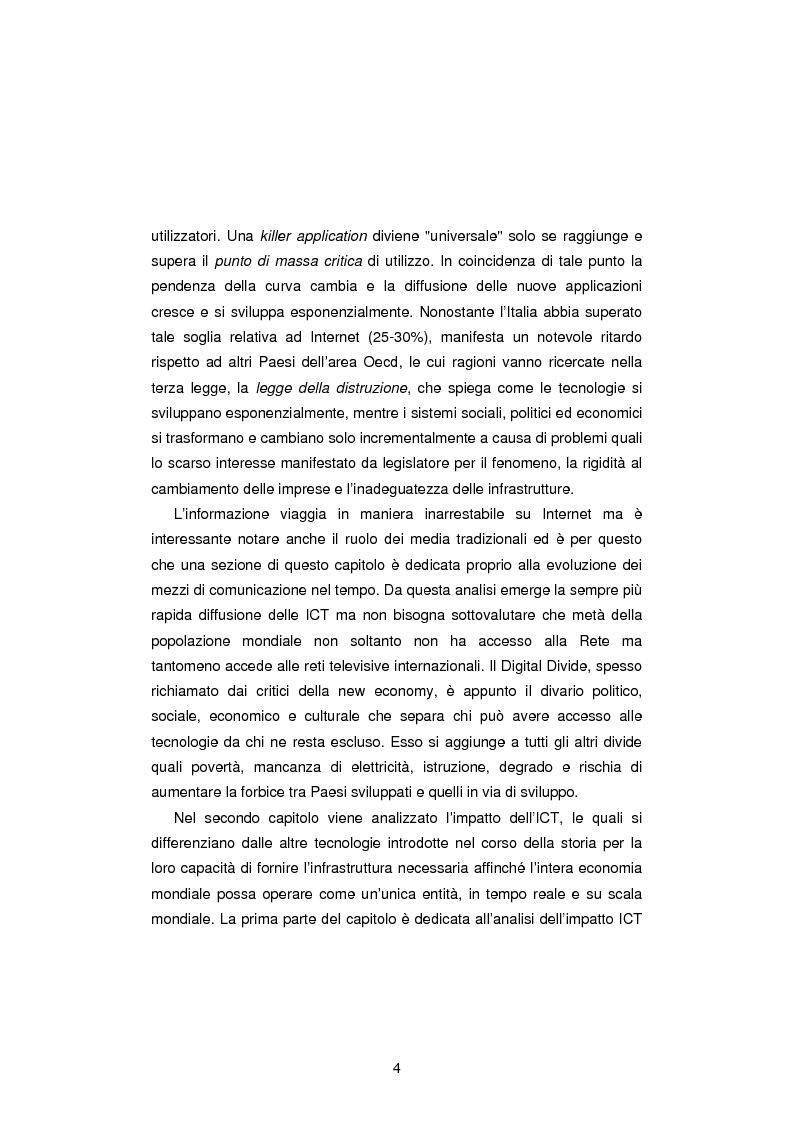 Anteprima della tesi: Gli Indicatori dell'Information and Communication Technology, Pagina 2