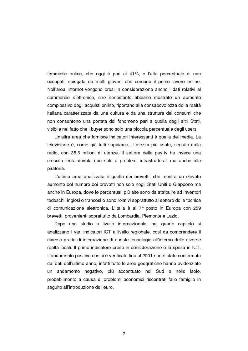 Anteprima della tesi: Gli Indicatori dell'Information and Communication Technology, Pagina 5