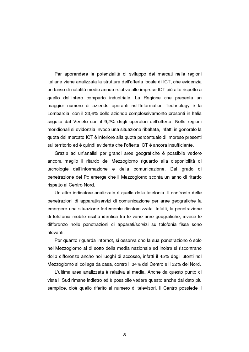 Anteprima della tesi: Gli Indicatori dell'Information and Communication Technology, Pagina 6