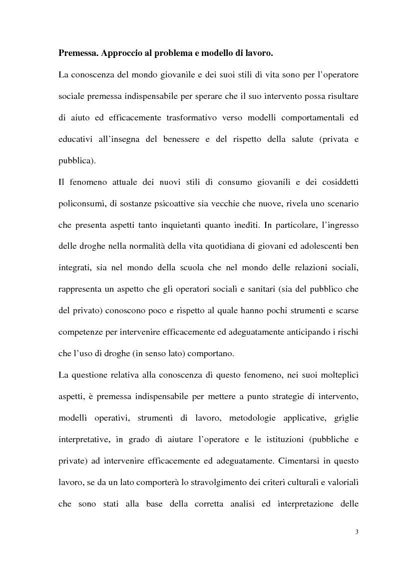 Anteprima della tesi: Il fenomeno delle assunzioni di nuove droghe nei giovani trapanesi. Stili comportamentali tra normalità e disagio, Pagina 1