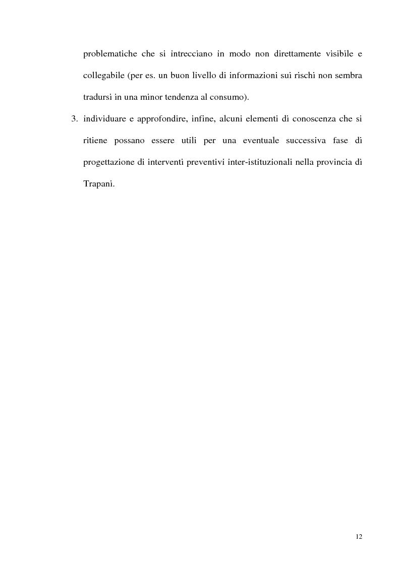 Anteprima della tesi: Il fenomeno delle assunzioni di nuove droghe nei giovani trapanesi. Stili comportamentali tra normalità e disagio, Pagina 10