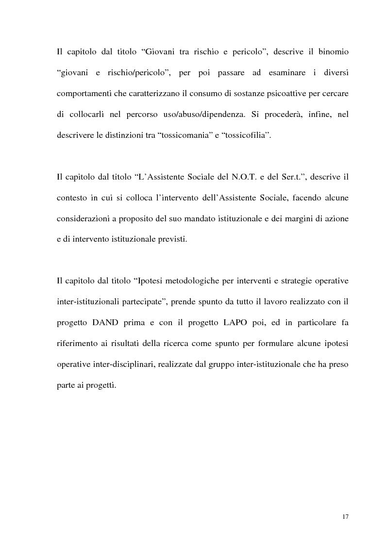 Anteprima della tesi: Il fenomeno delle assunzioni di nuove droghe nei giovani trapanesi. Stili comportamentali tra normalità e disagio, Pagina 15
