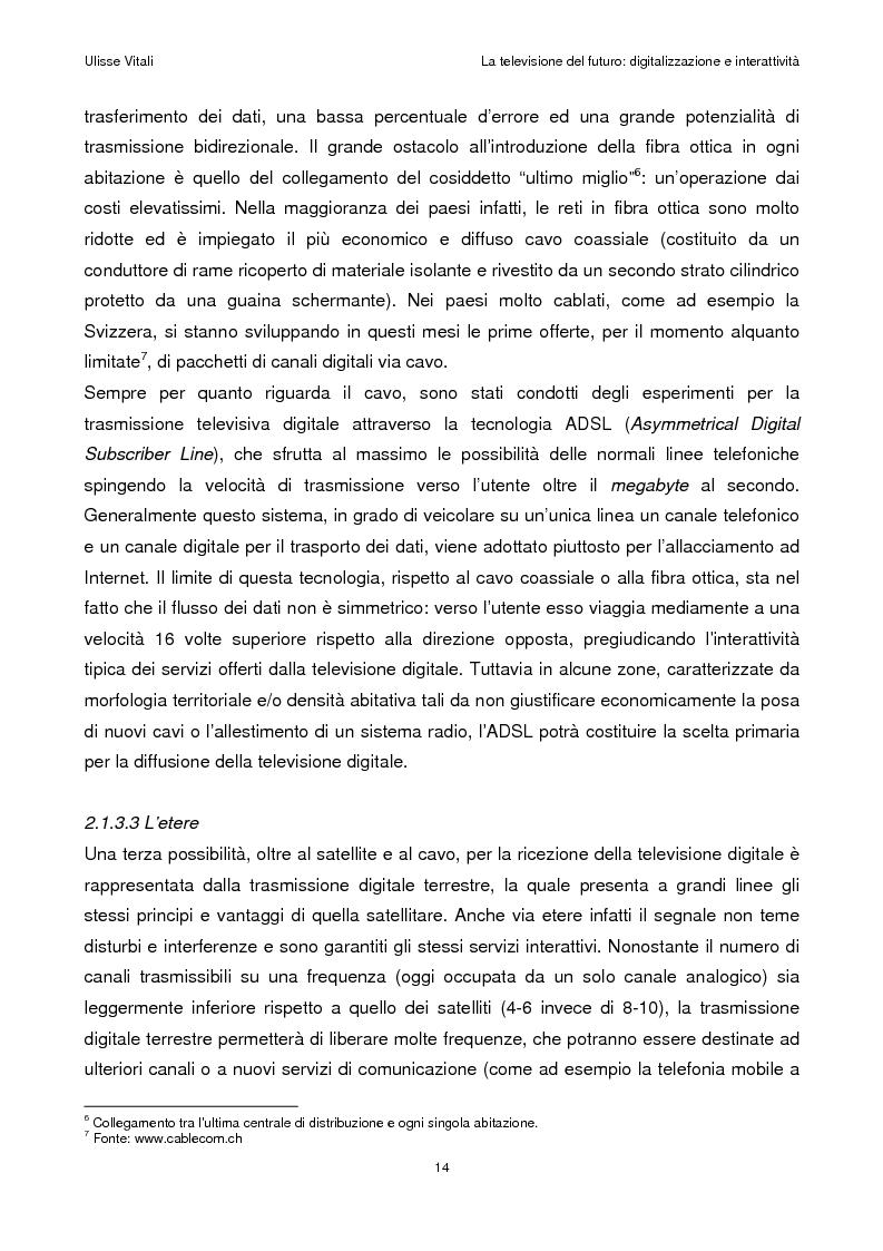 Anteprima della tesi: La televisione del futuro: digitalizzazione e interattività, Pagina 10
