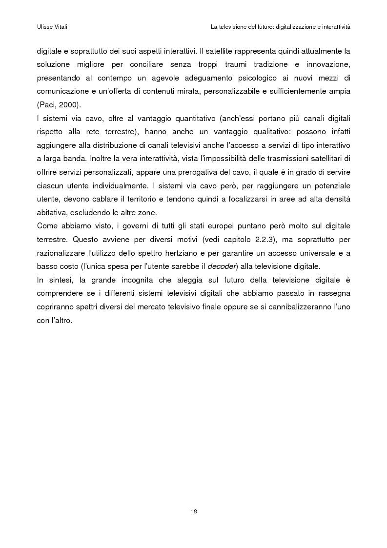 Anteprima della tesi: La televisione del futuro: digitalizzazione e interattività, Pagina 14