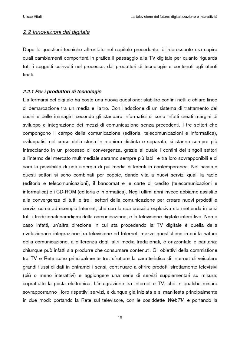 Anteprima della tesi: La televisione del futuro: digitalizzazione e interattività, Pagina 15