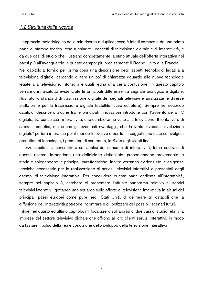 Anteprima della tesi: La televisione del futuro: digitalizzazione e interattività, Pagina 3