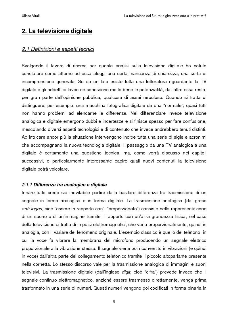 Anteprima della tesi: La televisione del futuro: digitalizzazione e interattività, Pagina 4
