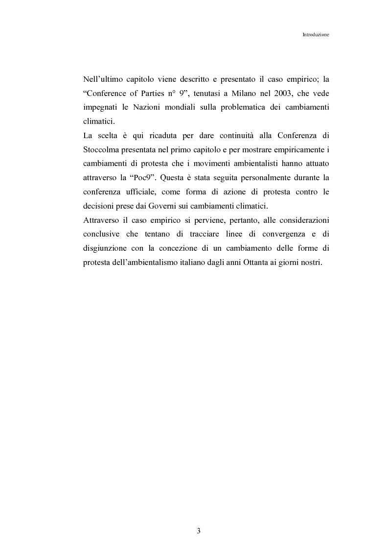 Anteprima della tesi: Mutamenti di azione dei movimenti ambientalisti : il caso Legambiente, Pagina 3