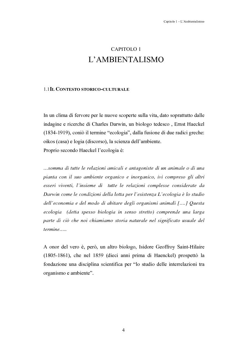 Anteprima della tesi: Mutamenti di azione dei movimenti ambientalisti : il caso Legambiente, Pagina 4