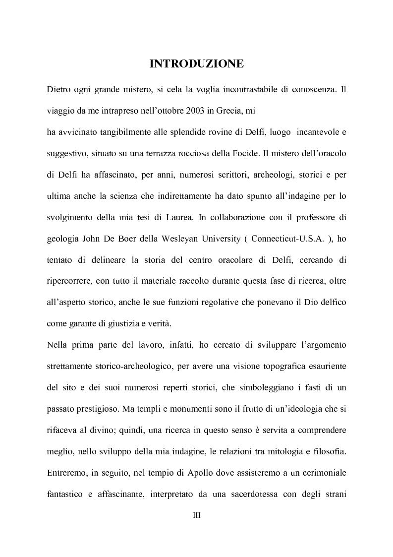 Anteprima della tesi: Delfi - il mistero dell'oracolo, Pagina 1