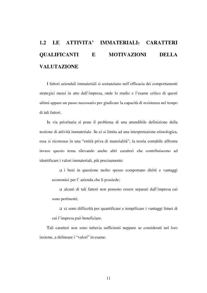 Anteprima della tesi: Le risorse immateriali nell'economia dell'Azienda. Profili valutativi, Pagina 8