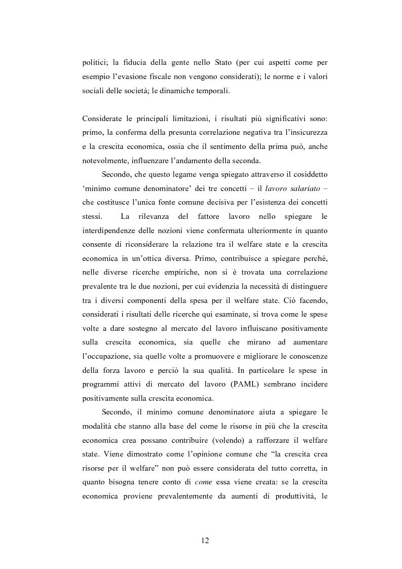 Anteprima della tesi: Tra insicurezza e crescita economica: il difficile bilanciamento del welfare state, Pagina 4