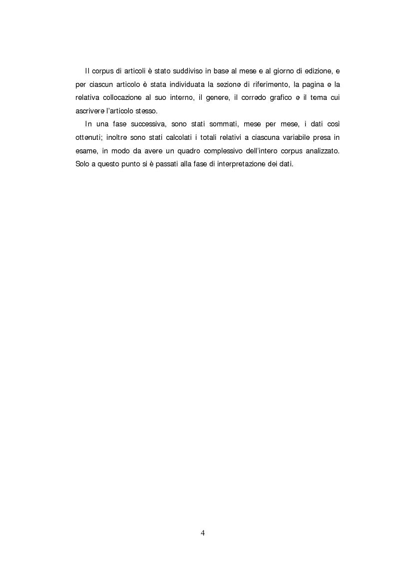 Anteprima della tesi: Descrizone della copertura informativa del dopoguerra in Iraq. Il caso del Corriere della Sera, Pagina 4