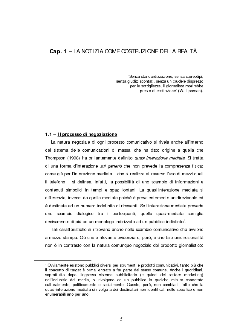 Anteprima della tesi: Descrizone della copertura informativa del dopoguerra in Iraq. Il caso del Corriere della Sera, Pagina 5