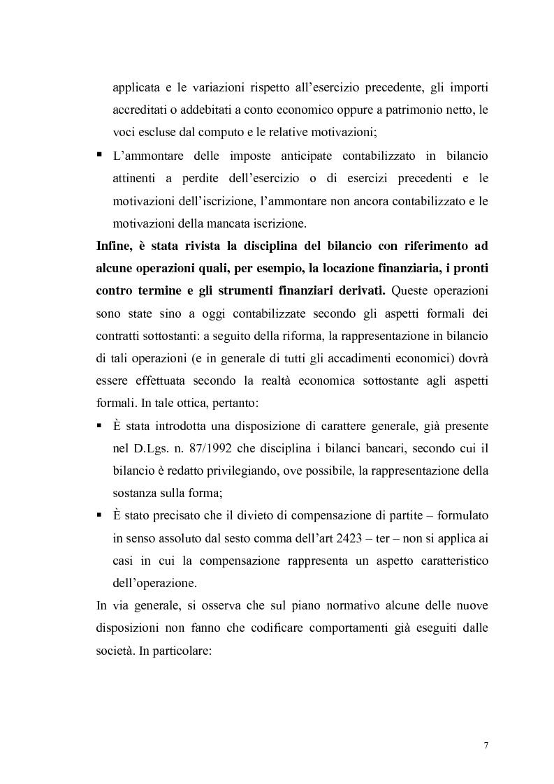 Anteprima della tesi: Il bilancio delle S.p.A. alla luce della nuova riforma del Diritto delle Società, Pagina 4