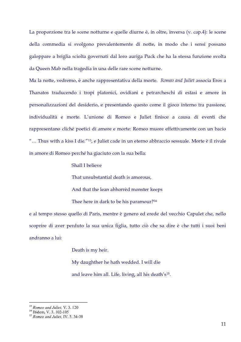 Anteprima della tesi: Love's such stuff as Dreams are made on. Il rapporto tra Amore e Sogno in Romeo and Juliet e in A Midsummer Night's Dream, Pagina 9