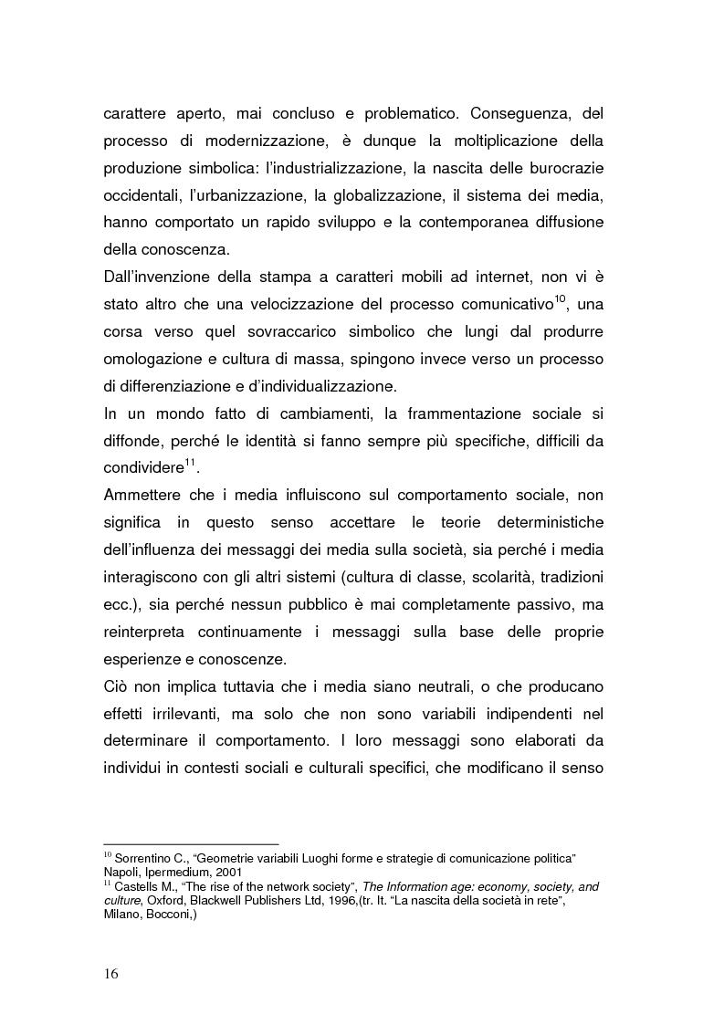 Anteprima della tesi: La Pubblica Amministrazione in rete; Il caso del comune di Pieve a Nievole, Pagina 12