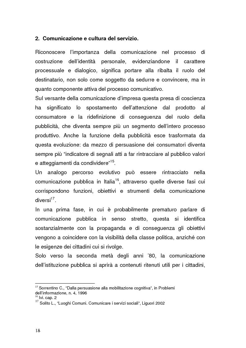 Anteprima della tesi: La Pubblica Amministrazione in rete; Il caso del comune di Pieve a Nievole, Pagina 14