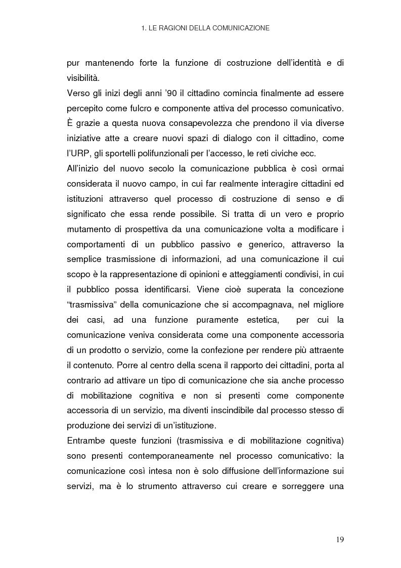 Anteprima della tesi: La Pubblica Amministrazione in rete; Il caso del comune di Pieve a Nievole, Pagina 15
