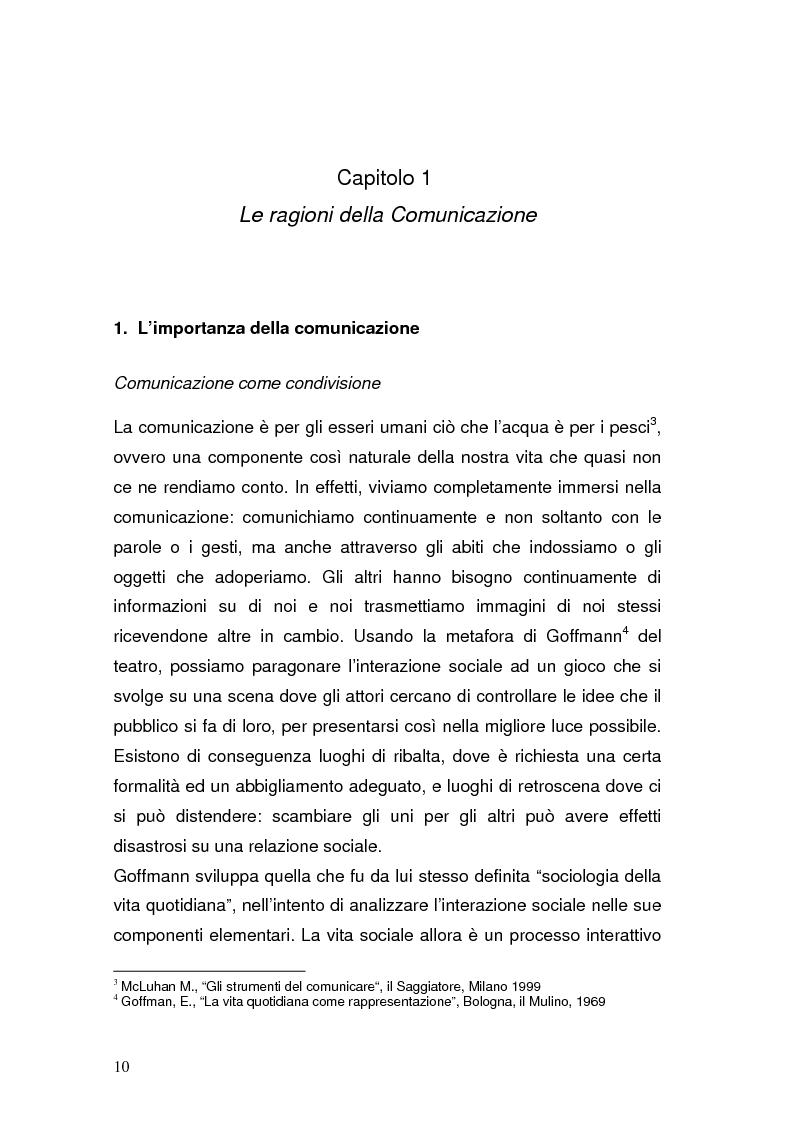 Anteprima della tesi: La Pubblica Amministrazione in rete; Il caso del comune di Pieve a Nievole, Pagina 6