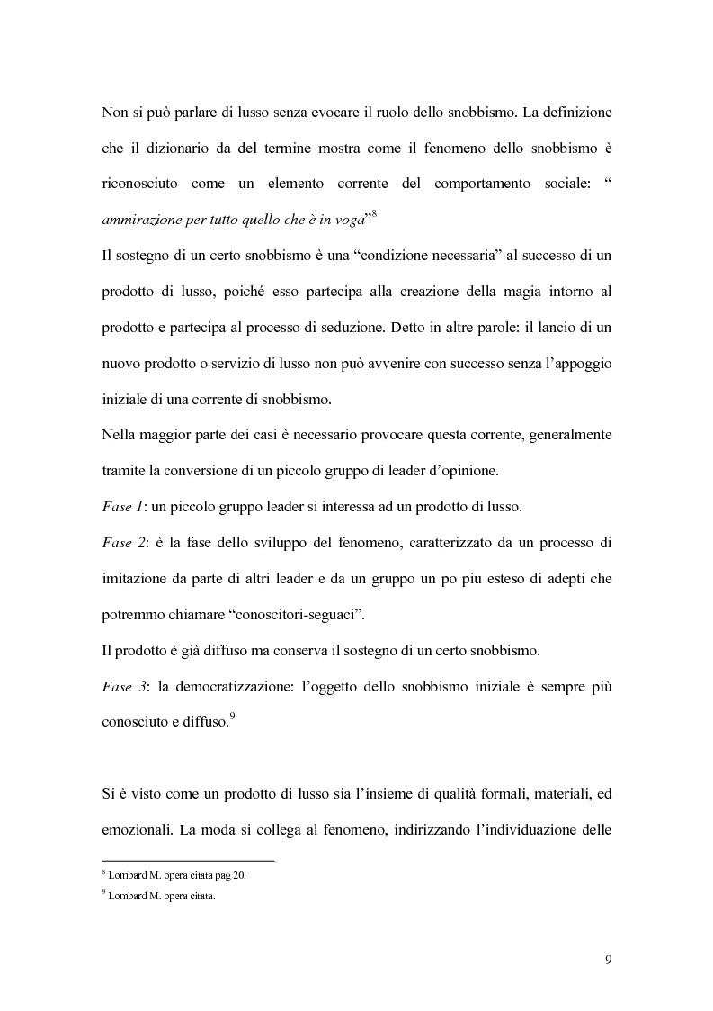 Anteprima della tesi: Percorsi di sviluppo delle imprese nel settore del lusso. I casi LVMH, Hermes e Gucci, Pagina 6