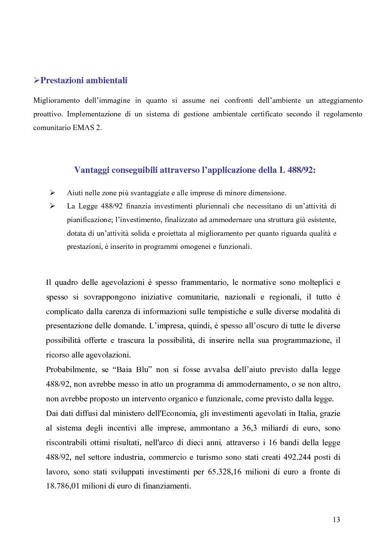 Anteprima della tesi: Gli strumenti di finanza agevolata a favore dello sviluppo delle imprese del settore turistico: il caso del complesso alberghiero ''B.B.'', Pagina 13