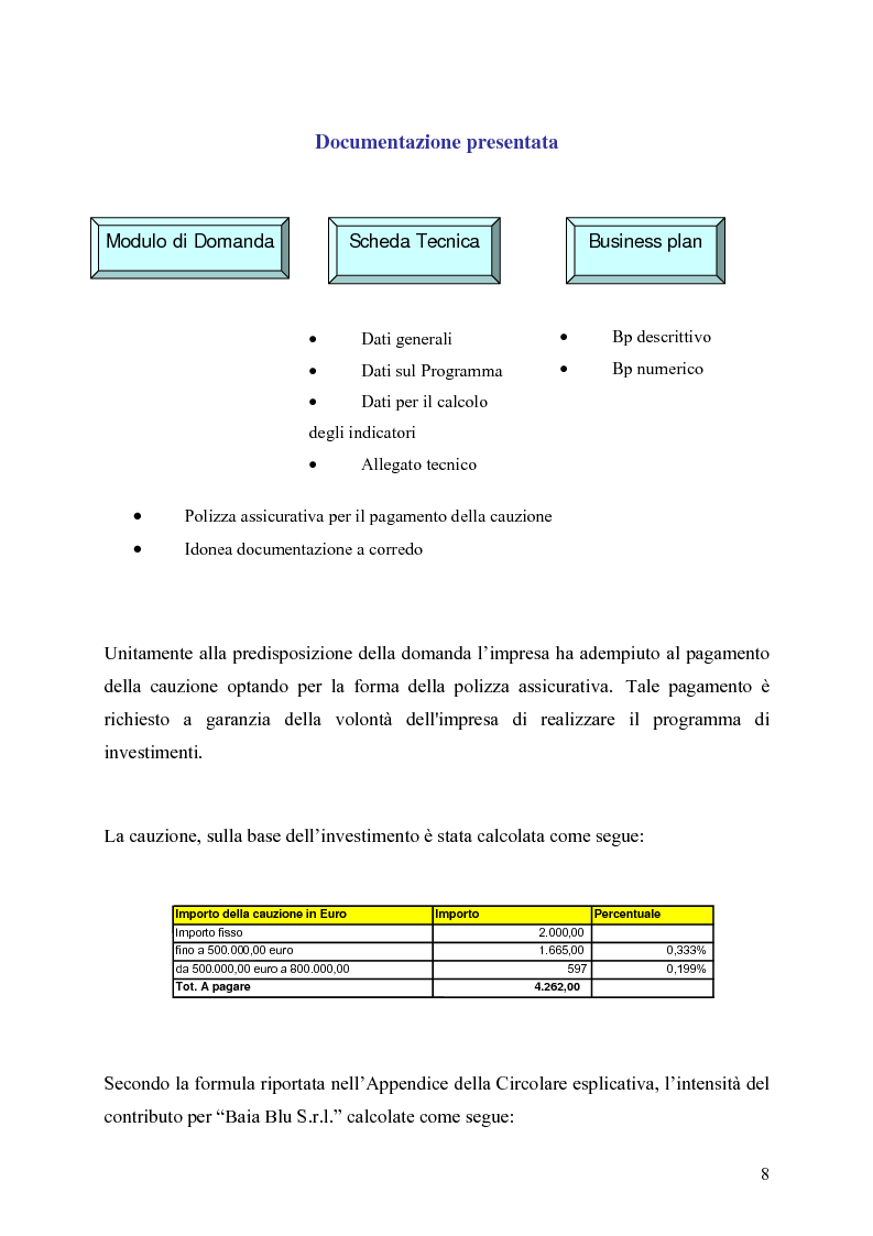 Anteprima della tesi: Gli strumenti di finanza agevolata a favore dello sviluppo delle imprese del settore turistico: il caso del complesso alberghiero ''B.B.'', Pagina 8
