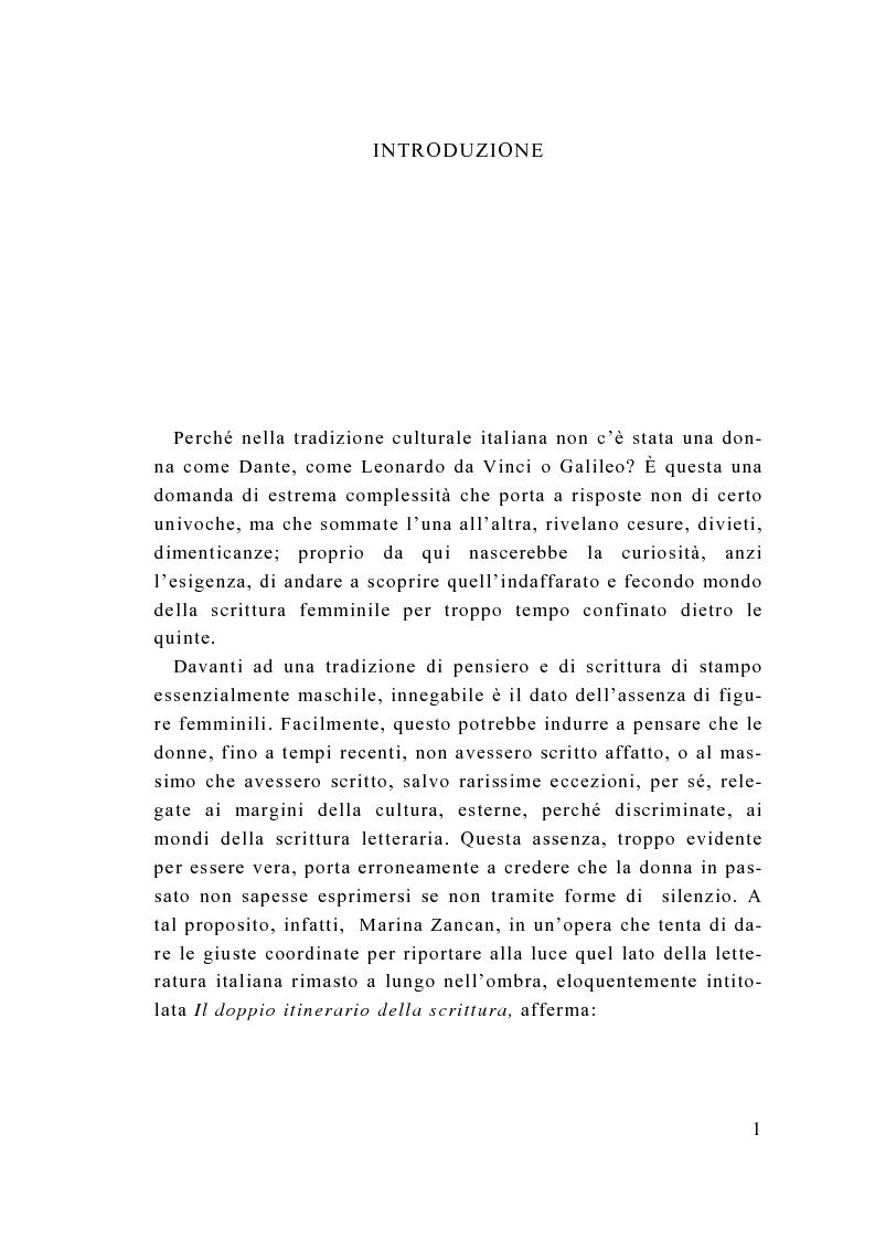 Anteprima della tesi: Tra calzette pizzi e merletti, Neera, scrittrice di talento, donna di alta moralità, Pagina 1