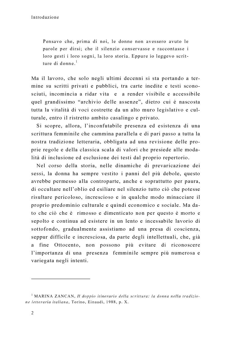 Anteprima della tesi: Tra calzette pizzi e merletti, Neera, scrittrice di talento, donna di alta moralità, Pagina 2