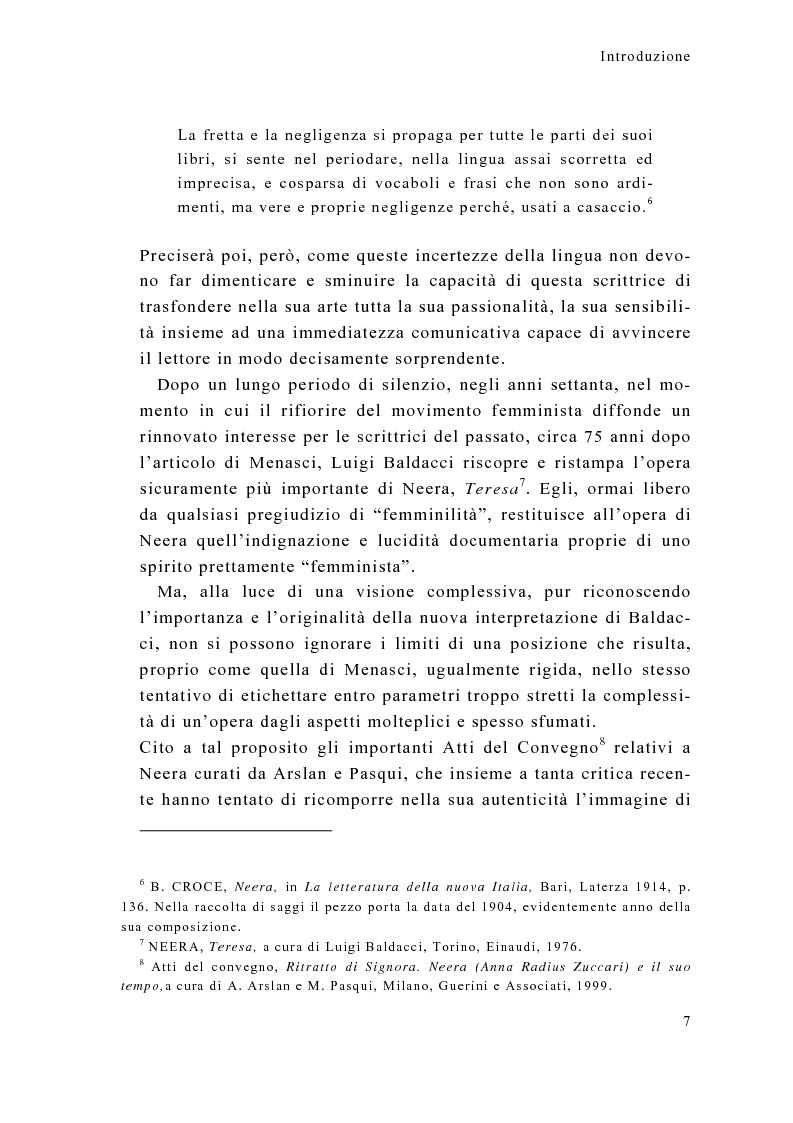 Anteprima della tesi: Tra calzette pizzi e merletti, Neera, scrittrice di talento, donna di alta moralità, Pagina 7