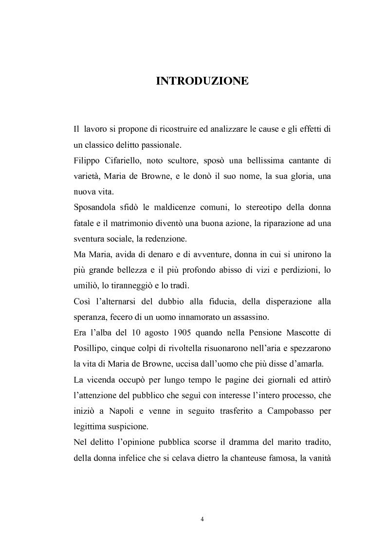 Anteprima della tesi: Filippo Cifariello : storia di un assassino, Pagina 1