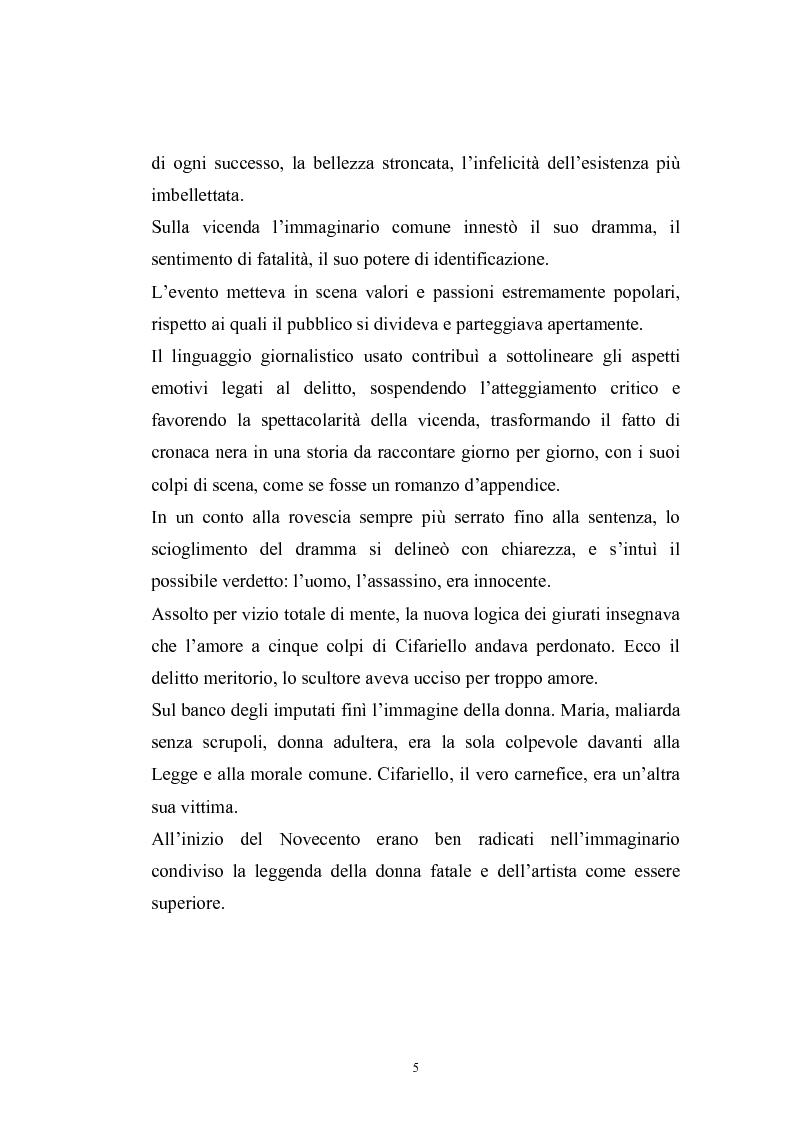 Anteprima della tesi: Filippo Cifariello : storia di un assassino, Pagina 2