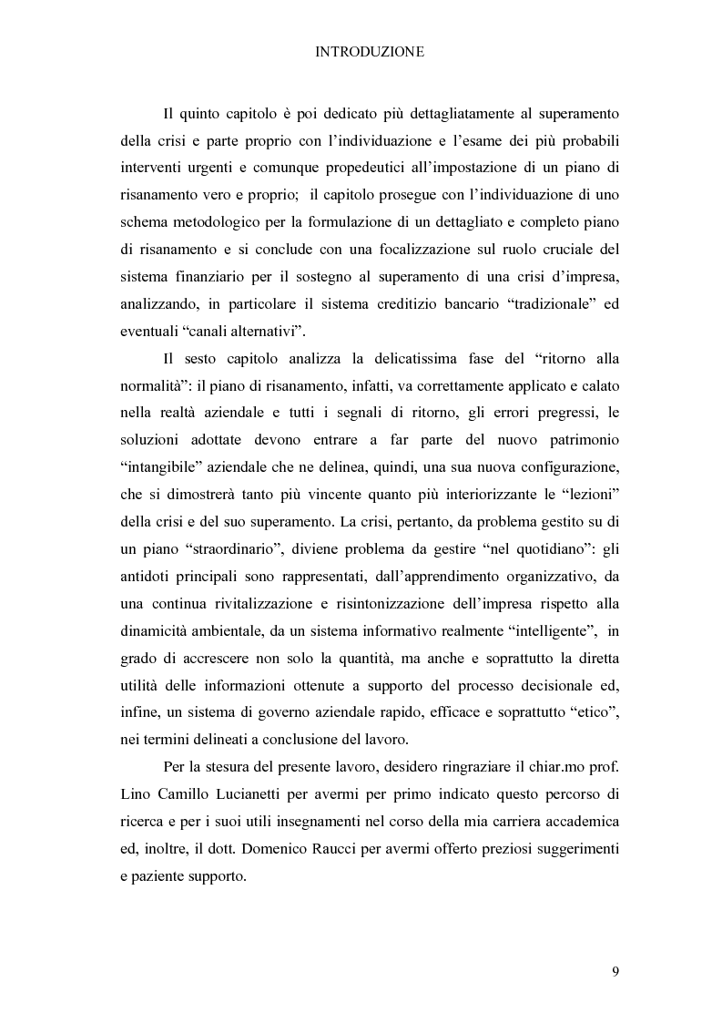 Anteprima della tesi: Crisi di impresa e vie di superamento, Pagina 3