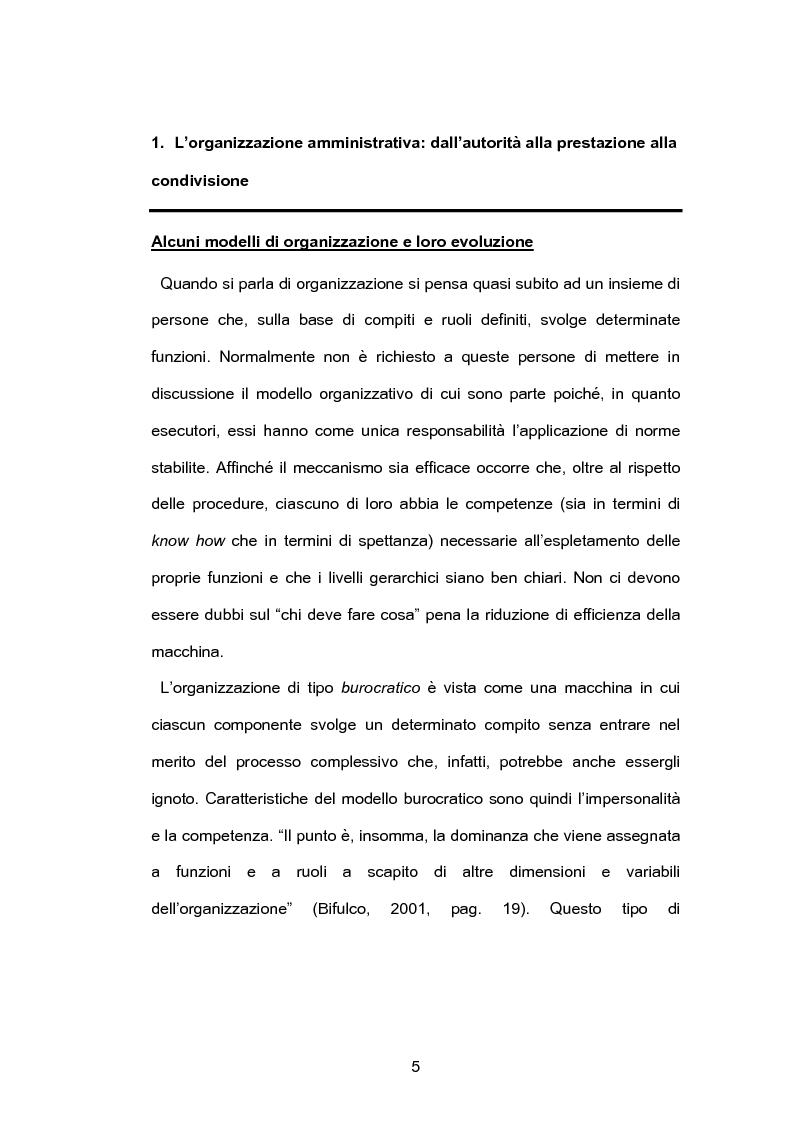 Anteprima della tesi: Pubblica amministrazione e partecipazione. Quale Amministrazione e per quale partecipazione?, Pagina 4