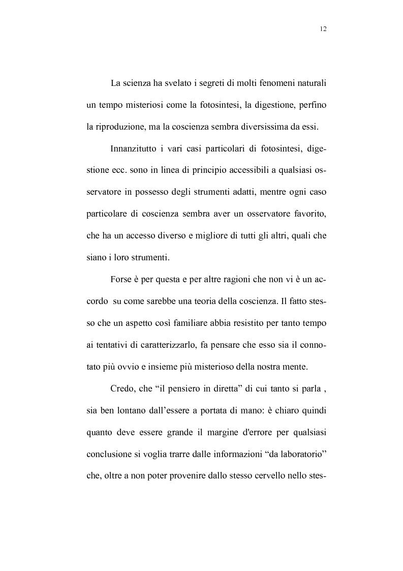 Anteprima della tesi: Evoluzione del rapporto mente-cervello nel pensiero di K.R. Popper e J.C. Eccles, Pagina 9