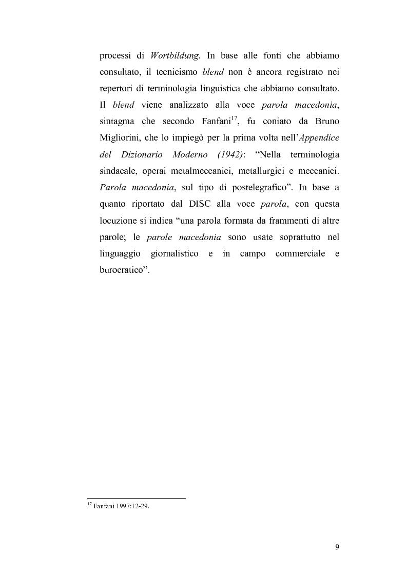 Anteprima della tesi: Studi di interferenza linguistica: americanismi e anglicismi., Pagina 9
