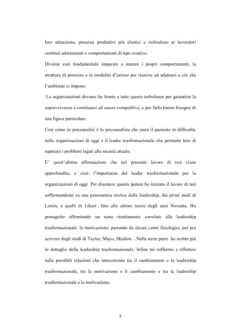 Anteprima della tesi: Leadership e motivazione, Pagina 2