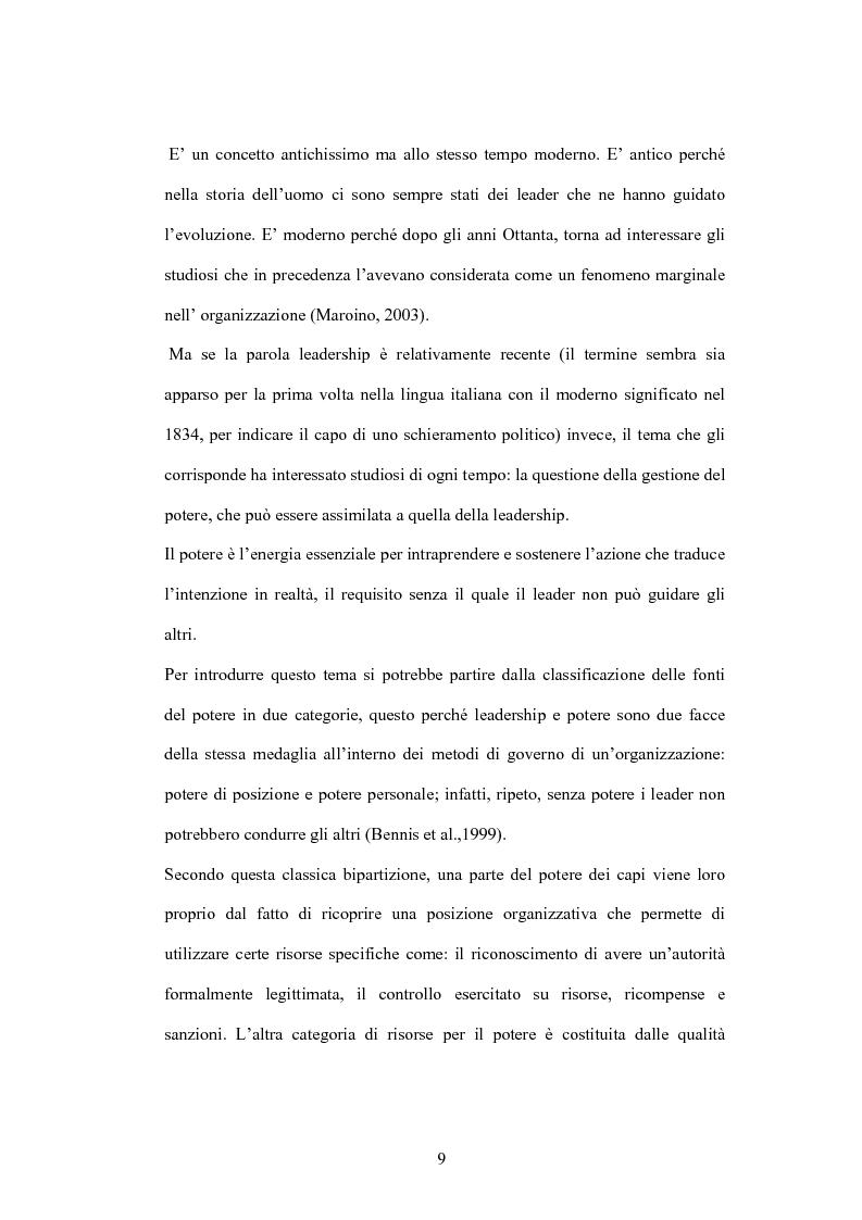 Anteprima della tesi: Leadership e motivazione, Pagina 6
