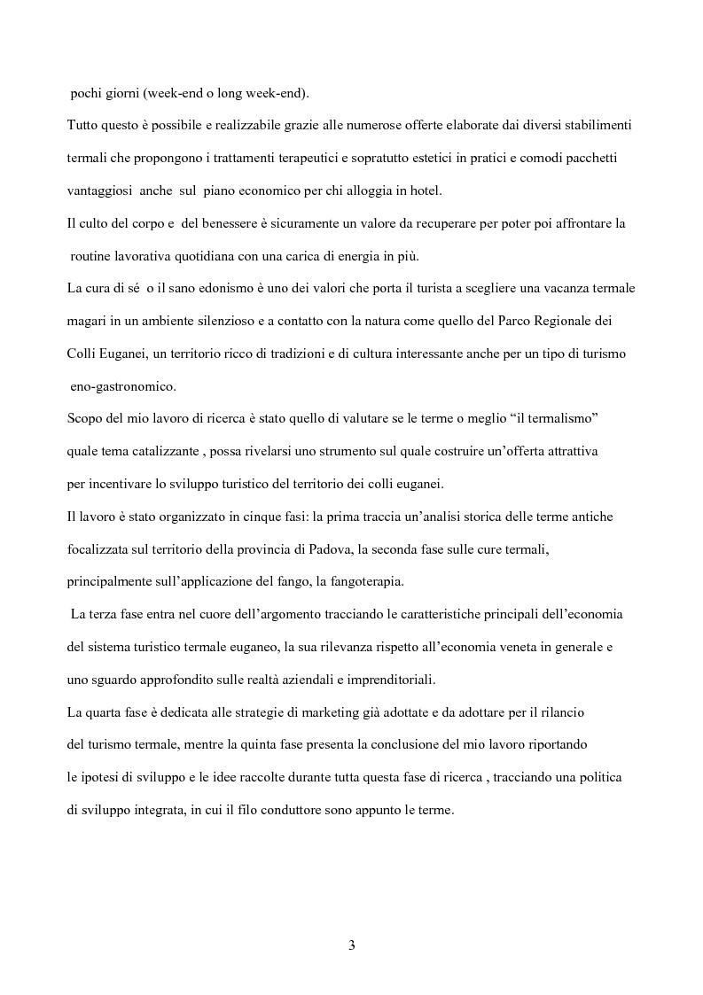 Anteprima della tesi: Il termalismo nei colli euganei: le nuove politiche di marketing di un turismo antico, Pagina 2