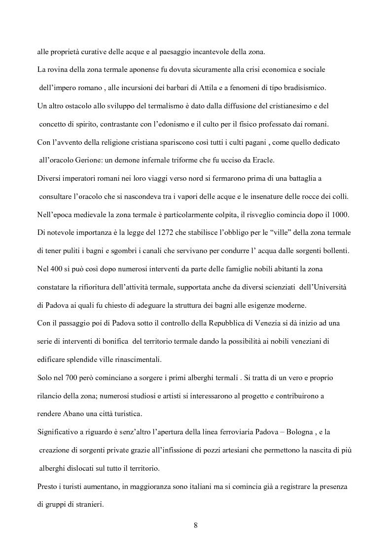 Anteprima della tesi: Il termalismo nei colli euganei: le nuove politiche di marketing di un turismo antico, Pagina 7