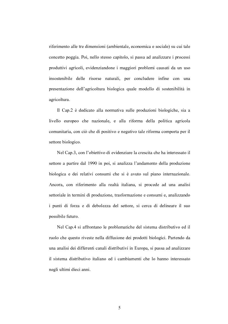 Anteprima della tesi: La distribuzione dei prodotti biologici: i canali innovativi, Pagina 2