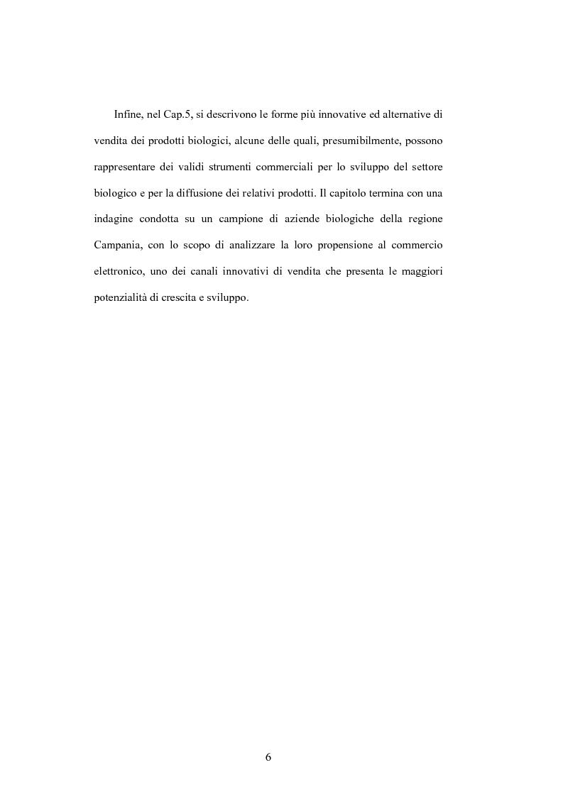 Anteprima della tesi: La distribuzione dei prodotti biologici: i canali innovativi, Pagina 3