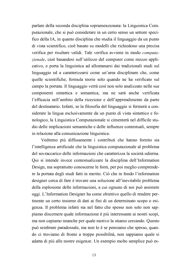 Anteprima della tesi: Dall'informazione esplosa alla conoscenza appetibile. Informatiotion Design per la presentazione di contenuti editoriali, Pagina 11
