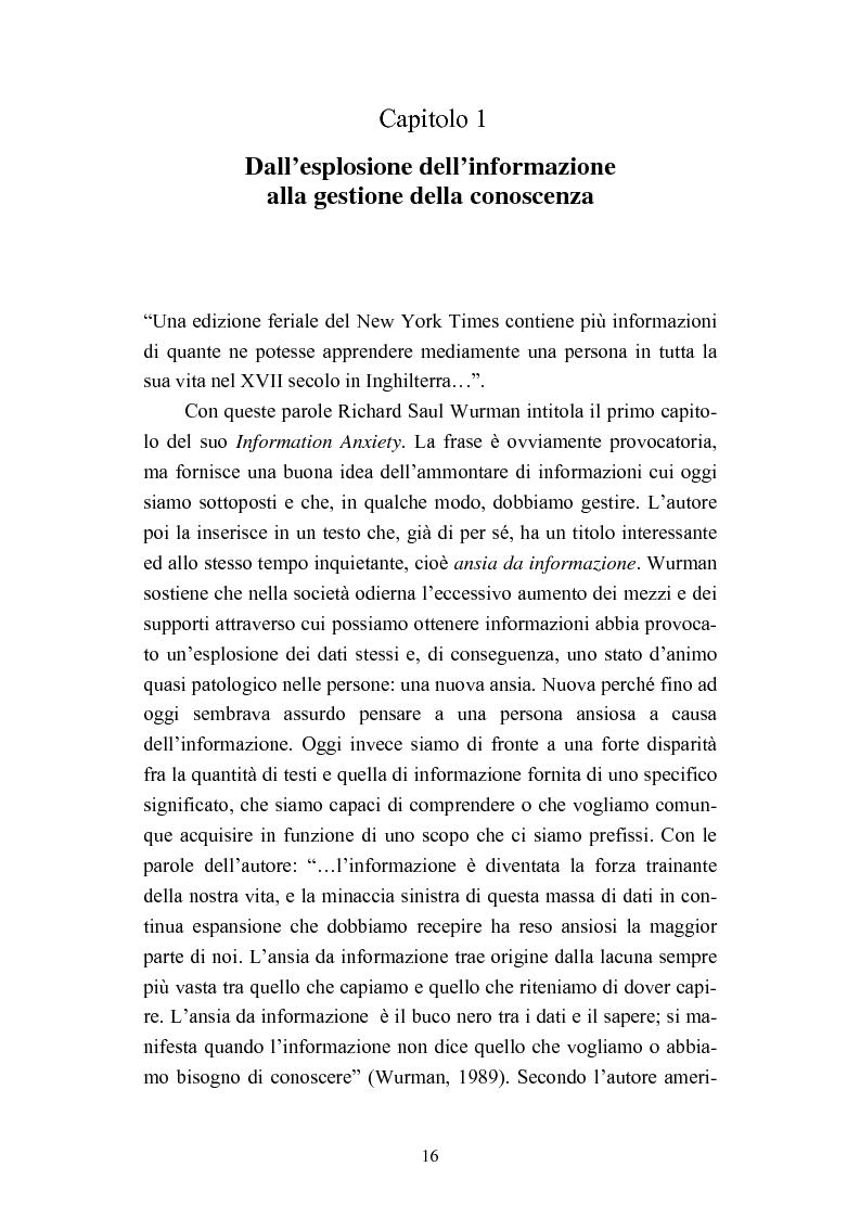 Anteprima della tesi: Dall'informazione esplosa alla conoscenza appetibile. Informatiotion Design per la presentazione di contenuti editoriali, Pagina 14