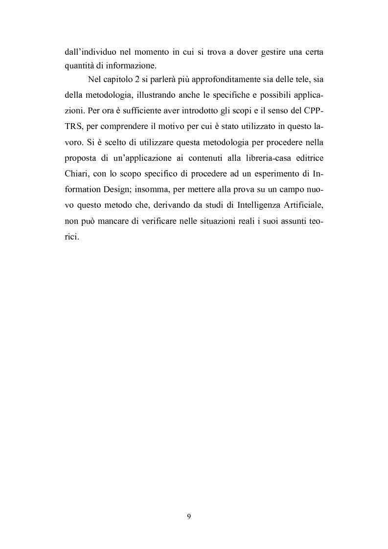 Anteprima della tesi: Dall'informazione esplosa alla conoscenza appetibile. Informatiotion Design per la presentazione di contenuti editoriali, Pagina 7