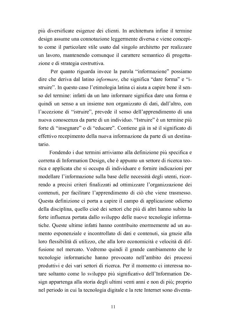 Anteprima della tesi: Dall'informazione esplosa alla conoscenza appetibile. Informatiotion Design per la presentazione di contenuti editoriali, Pagina 9