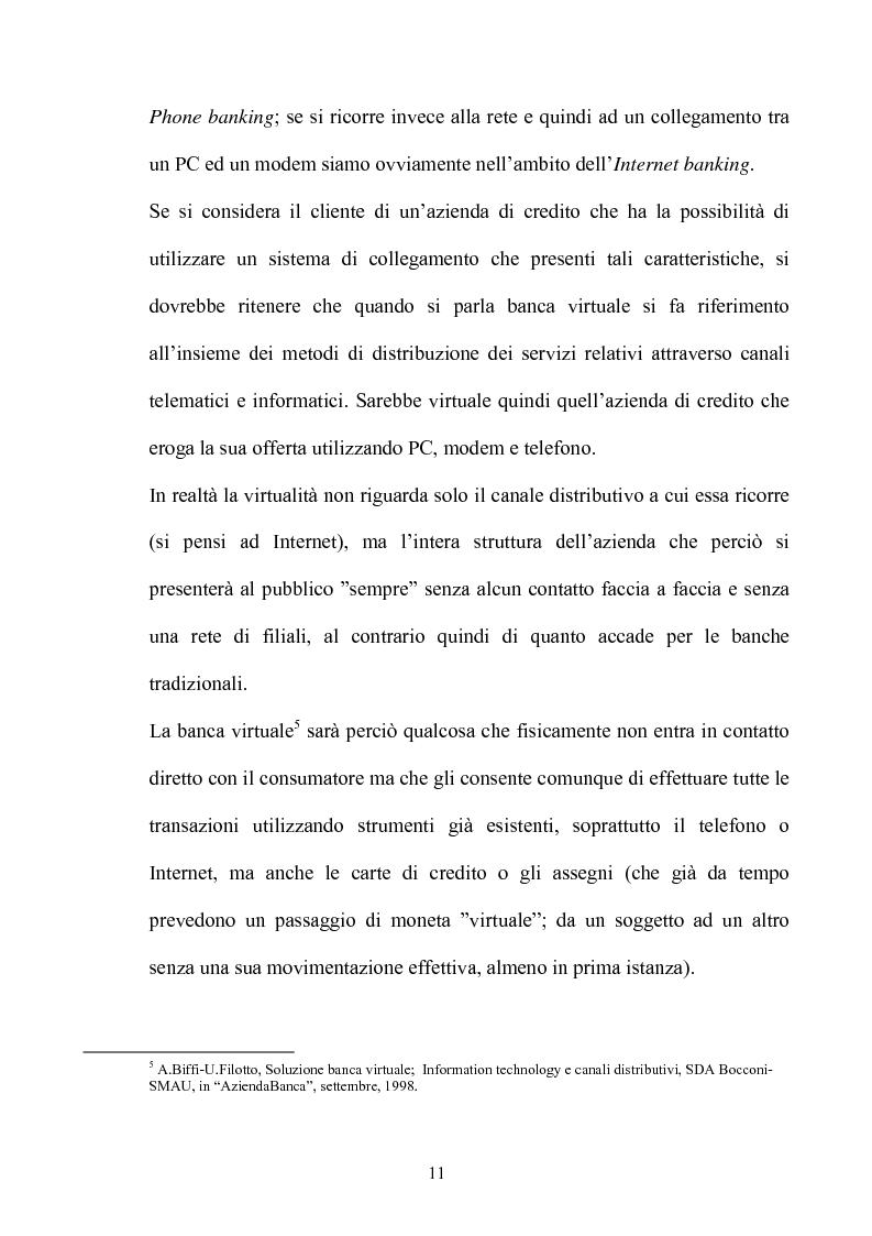 Anteprima della tesi: La multicanalità nel settore bancario e le sue analisi competitive, Pagina 10