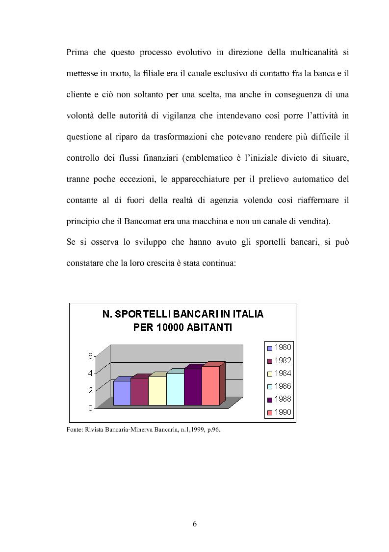 Anteprima della tesi: La multicanalità nel settore bancario e le sue analisi competitive, Pagina 5