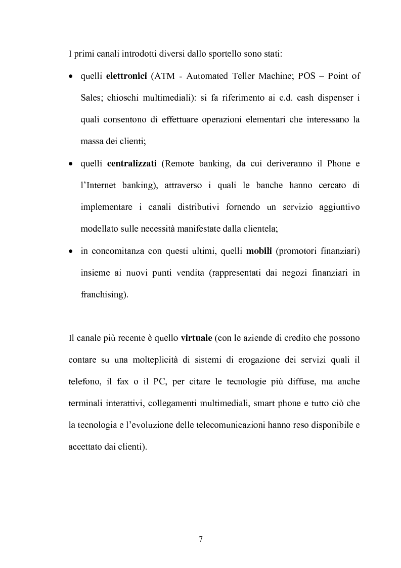 Anteprima della tesi: La multicanalità nel settore bancario e le sue analisi competitive, Pagina 6